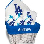 LA Dodgers Personalized 6-Piece Gift Basket