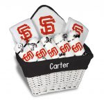 SF Giants Personalized 9-Piece Gift Basket