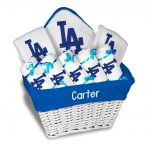 LA Dodgers Personalized 9-Piece Gift Basket