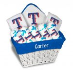 Texas Rangers Personalized 9-Piece Gift Basket