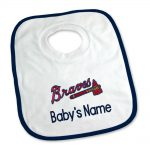 Atlanta Braves Personalized Pullover Baby Bib