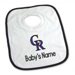 Colorado Rockies Personalized Pullover Baby Bib