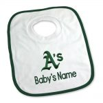 Oakland Athletics Personalized Pullover Baby Bib