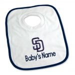 SD Padres Personalized Pullover Baby Bib