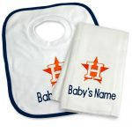Houston Astros Personalized Bib and Burp Cloth Gift Set