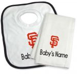 SF Giants Personalized Bib and Burp Cloth Gift Set