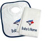 Toronto Blue Jays Personalized Bib and Burp Cloth Gift Set