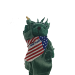 Statue of Liberty New York Patriotic Green Plush Teddy Bear