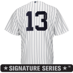 Alex Rodriguez Signature Series No Name Jersey – NY Yankees Replica Adult Home Jersey