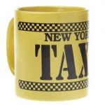 Yellow and Black Taxi Mug