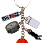New York Basketball Charm Key Chain