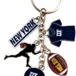 New York Football Charm Key Chain
