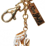 High Heel Sandal Key Ring with Diamonds & New York Tag