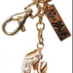 High Heel Sandal Key Ring with Diamonds & New York Tag