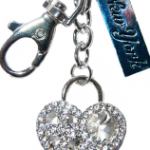 Heart with Key Diamond Key Ring & New York Tag