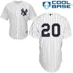 Jorge Posada No Name Jersey – Number Only Replica by Majestic