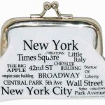 NYC Landmarks Black Letters Coin Purse