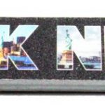 New York Icons in Letters Nail File