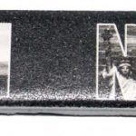 Manhattan NY Skyline in Letters Nail File