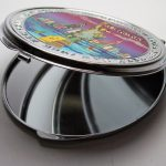 NYC Purple Skyline Pocket Mirror