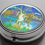 NYC Blue Skyline Pill Box