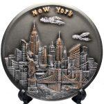 NY Skyline 3D Souvenir Plate – 6 Inch