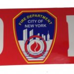 FDNY Red Bumper Sticker