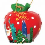 Big Apple NY Christmas Ornament