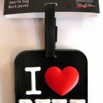 I Love NY Luggage Tag – Black