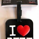 I Love NY Luggage Tag – Black
