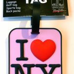I Love NY Luggage Tag – Pink