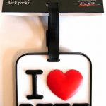 I Love NY Luggage Tag – White