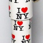 I Love NY Allover White Pen