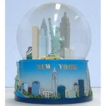NYC Skyline Blue 65mm Snowglobe
