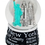 NYC Landmarks Black 45mm Snowglobe