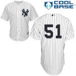 Bernie Williams No Name Jersey – Number Only Replica by Majestic