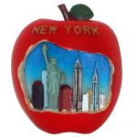 NYC Big Apple Skyline Magnet