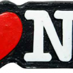 Poly Black Shaped I Love NY Magnet
