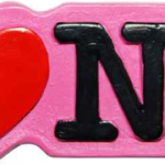 Poly Pink Shaped I Love NY Magnet
