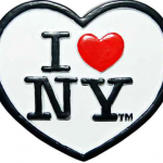 Poly White Heart Shaped I Love NY Magnet