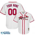 St Louis Cardinals Cooperstown Personalized White Jersey