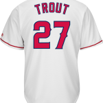 Mike Trout LA Angels Replica Youth Home Jersey