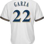 Matt Garza Youth Jersey – Milwaukee Brewers Replica Kids Home Jersey