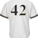 Jackie Robinson Day 42 Youth Jersey – Milwaukee Brewers Replica Kids Home Jersey