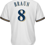 Ryan Braun Milwaukee Brewers Replica Youth Home Jersey