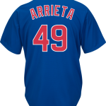 Jake Arrieta Jersey – Chicago Cubs Replica Adult Royal Blue Jersey