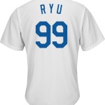 Hyun-Jin Ryu Youth Jersey – LA Dodgers Replica Kids Home Jersey