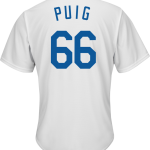 Yasiel Puig LA Dodgers Replica Adult Home Jersey