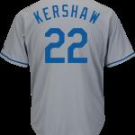 Clayton Kershaw Jersey – LA Dodgers Replica Adult Road Jersey