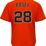 Buster Posey Jersey – San Francisco Giants Replica Adult Orange Alt Jersey